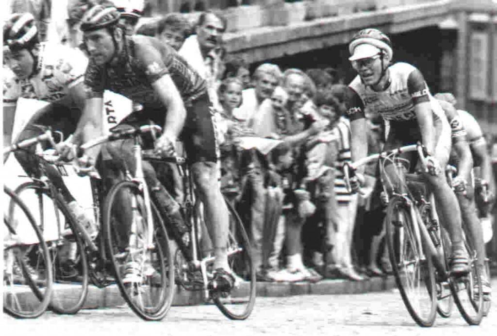 Altstadtkriterium Graz, ich mit dem späteren Sieger Sean Kelly, Radsport