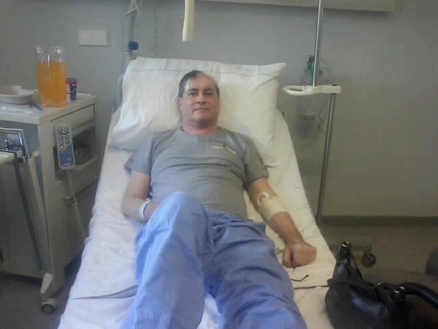 Nach der OP im Krankenhaus