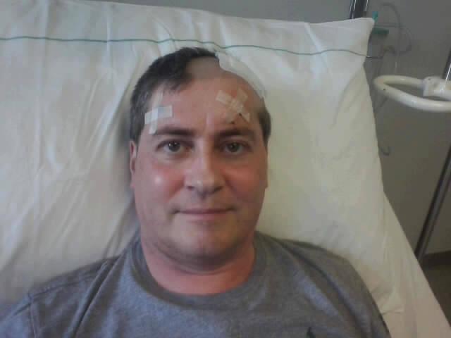 Nach der OP auf der Neurochirurgie