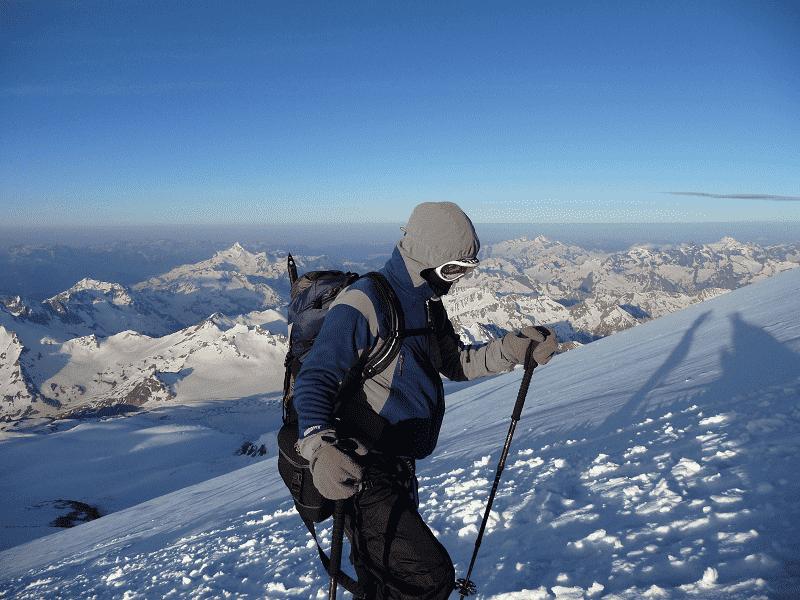 Aufstieg am Elbrus