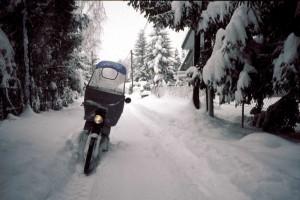 Postzustellung im Winter wie Trailrunning