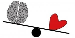 Gehirn/Denken versus Herz