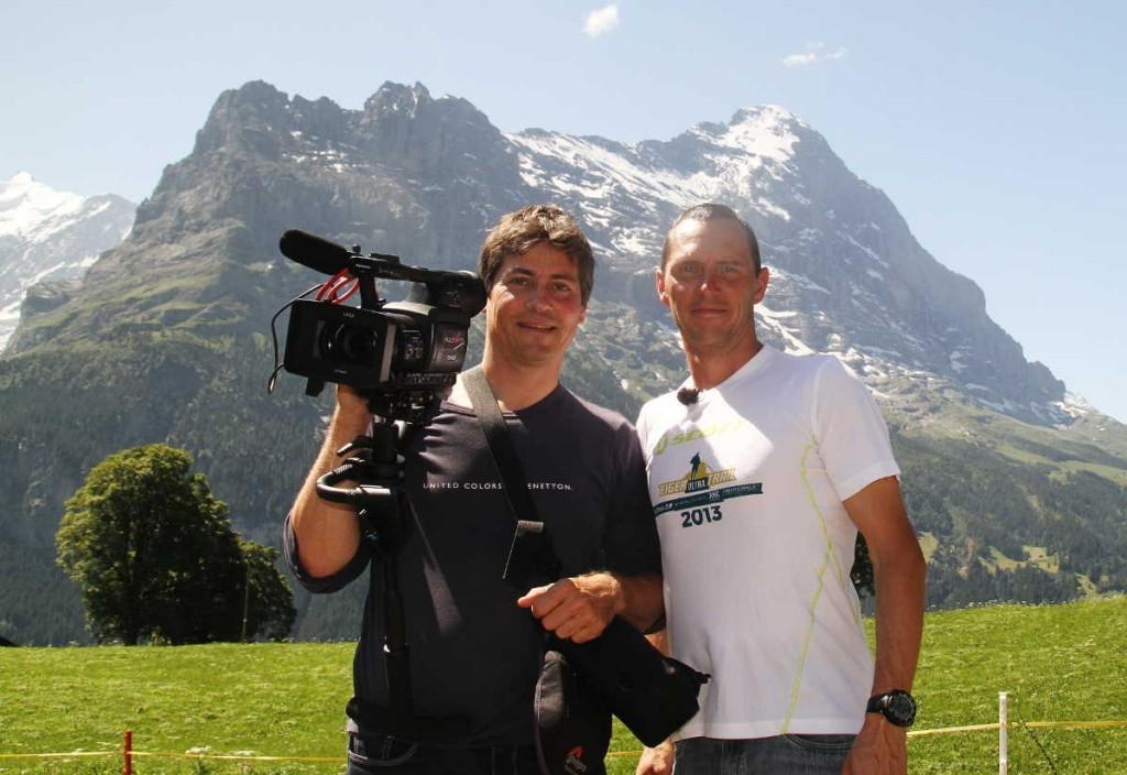Matthias und ich beim Eiger Ultra Trail 2013