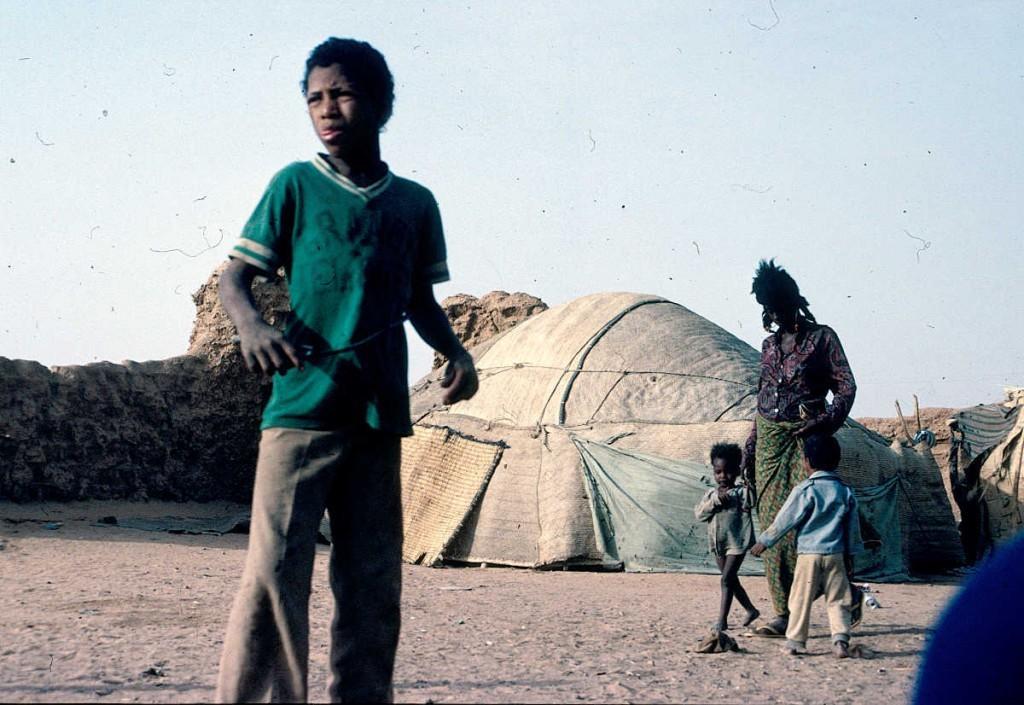 In den Slums von Agadez, hier wohnten wir bei den Tuaregs
