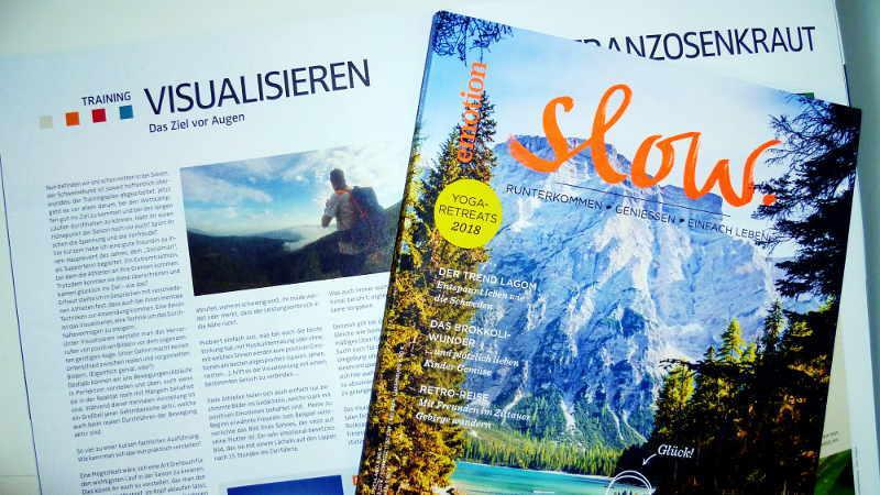 Trailrunning und Slow Zeitschriften