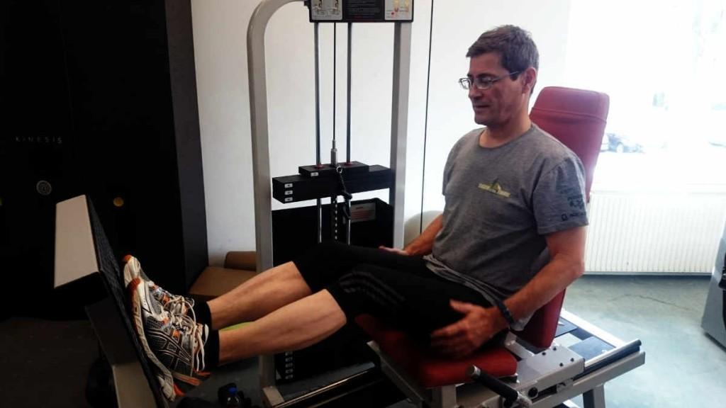 Beinpresse im Fitness Studio