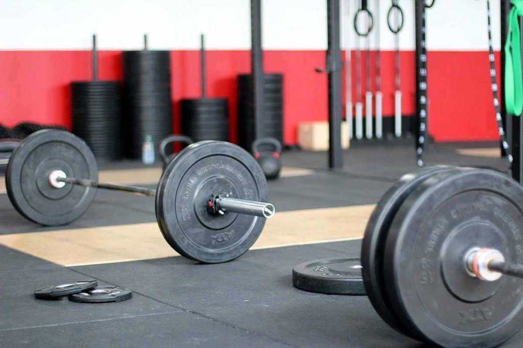 Im Fitness Studio, früher Kraftkammer