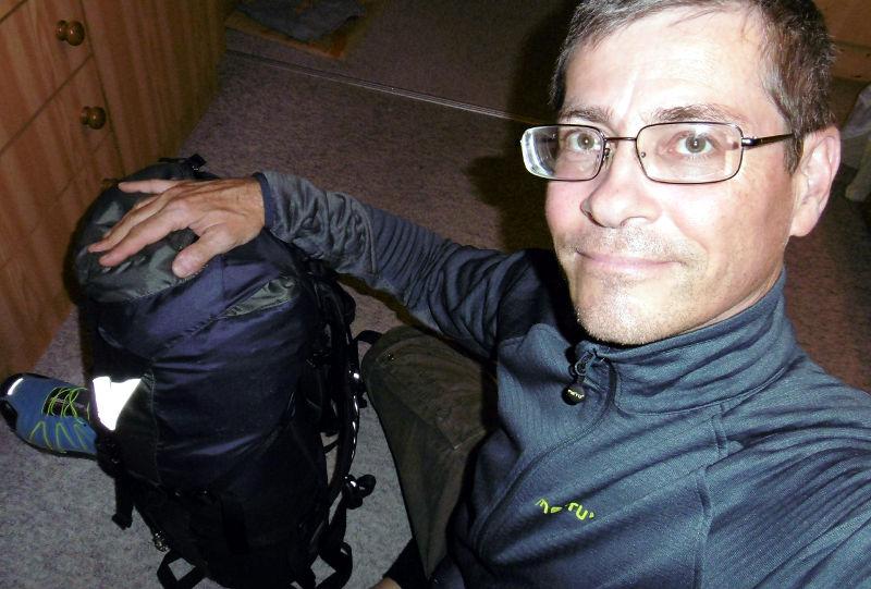 mein Rucksack und ich, zum Jakobsweg
