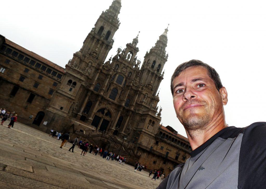 Ankommen vor der Kathedrale in Santiago de Compostela