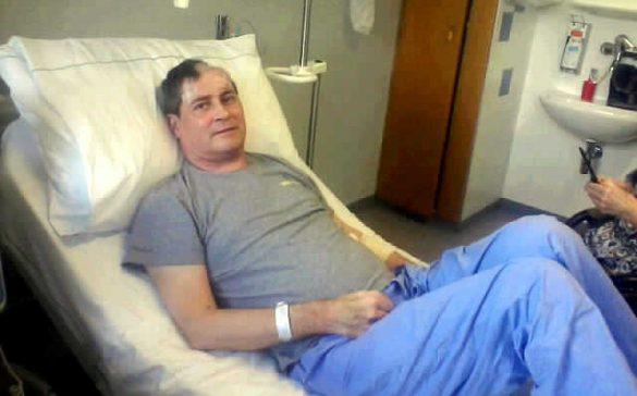 Ich im Krankenhaus