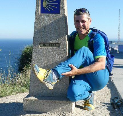 Finesterre, Camino del Norte, beim Kilometerstein 0