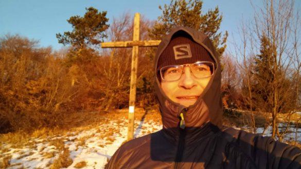 Am Gipfel des Kieneck. Präparieren für den Wintercamino.