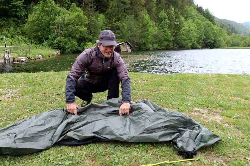 Zelten, eine Herausforderung
