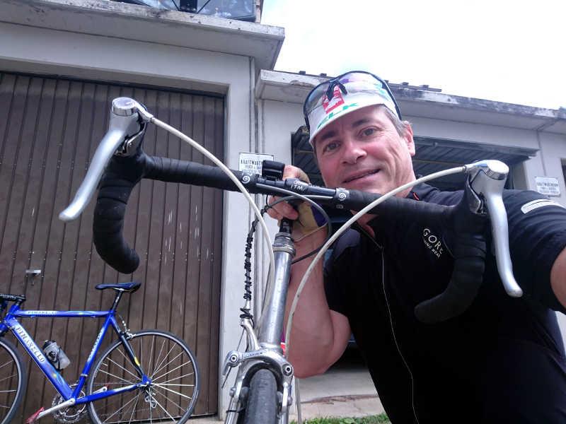 Endlich wieder am Rad. Radfahren ist endlich möglich.