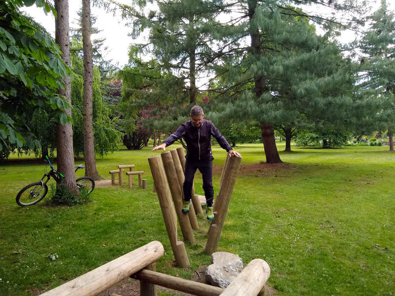 Rehabilitation Gleichgewicht im Balance Park