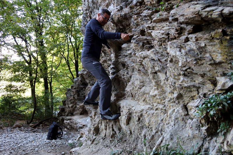 Klettern im Zigeunerloch