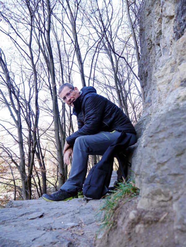 "Rast am ""Kletter-Hotspot"" Zigeunerhöhle, beim Klettern als Therapie"