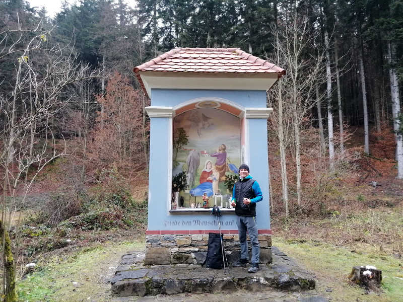 Bildstock im Bärental, am Papst-Franziskus-Pilgerweg