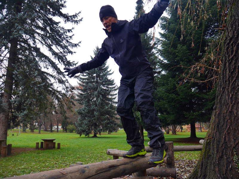 Trainieren im Balance-Park