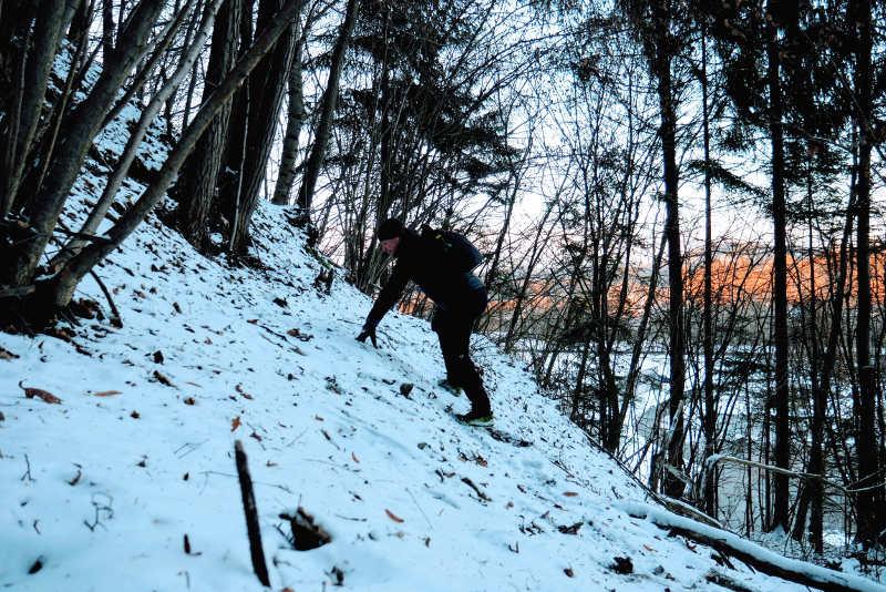 Gehen im Steilhang, Reha-Training